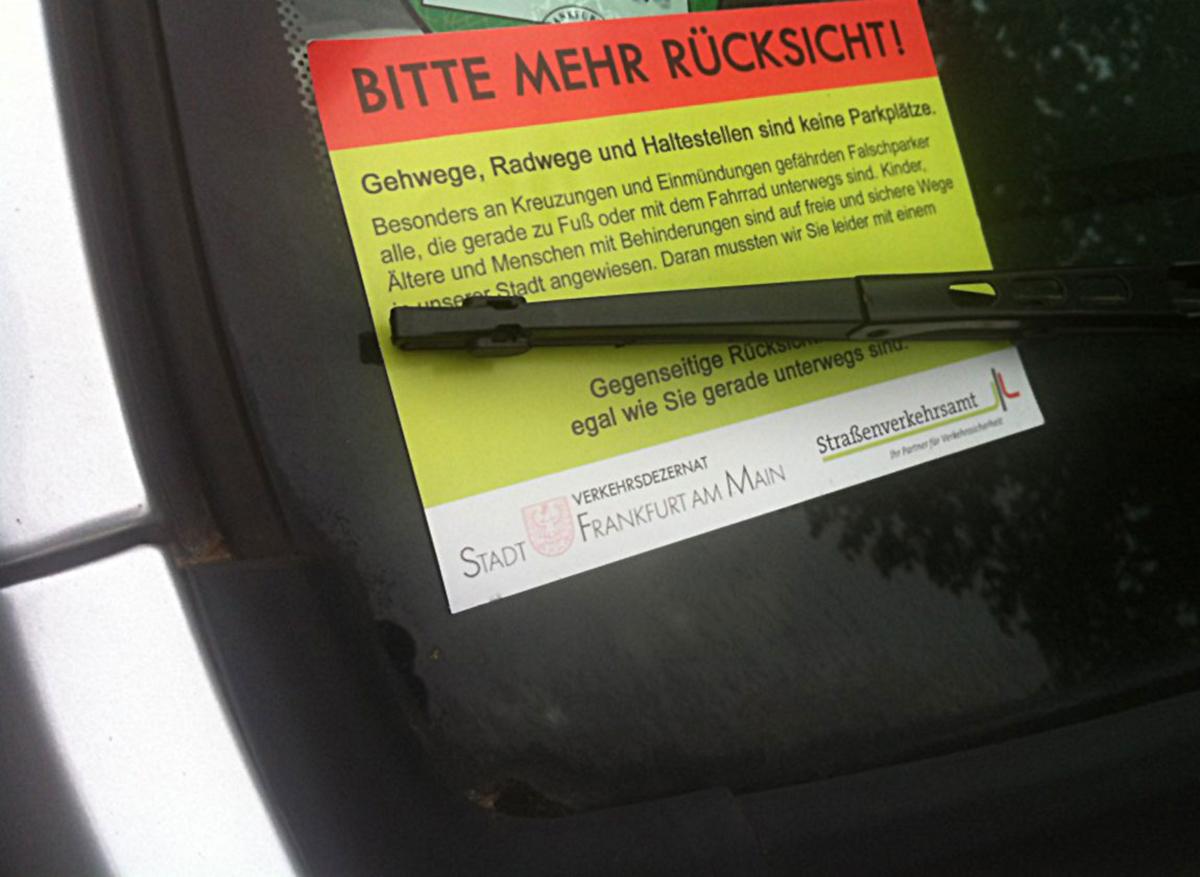Scheisse geparkt? Parknotizen aus Bornheim