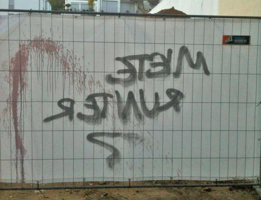 """Protest am Berger Palais: """"Mieten runter"""""""