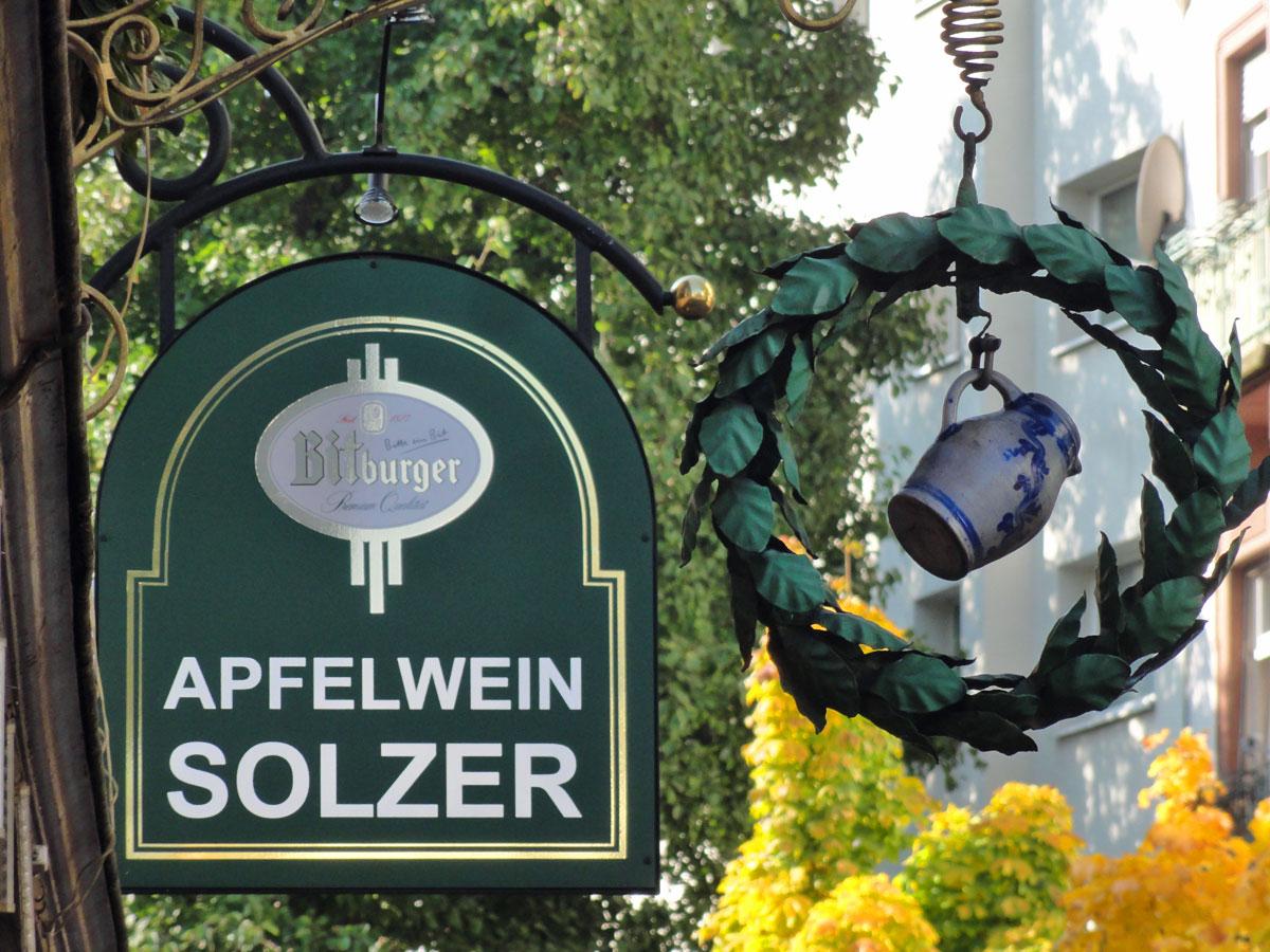 Apfelwein Solzer in der Berger Straße