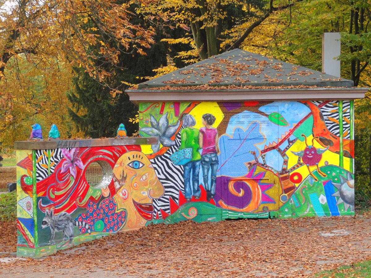 guenthersburgpark frankfurt bemalte wand 6