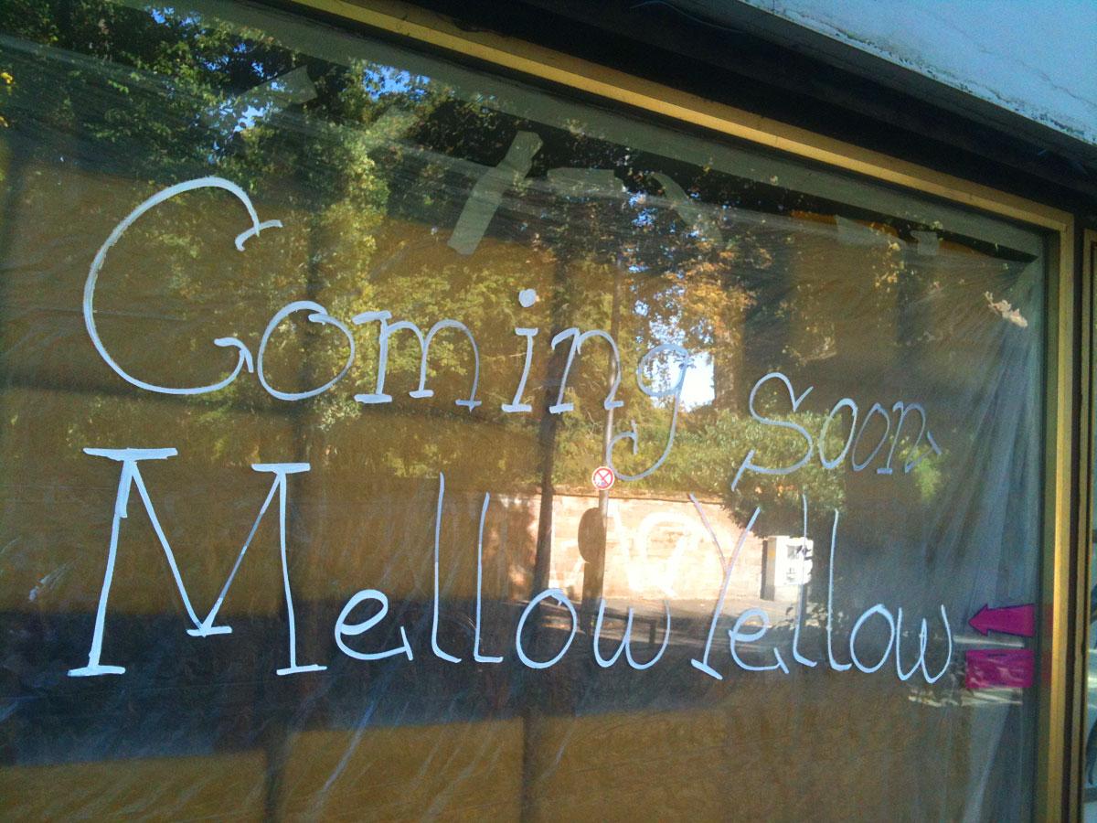 Mellow Yellow auf der Berger Straße
