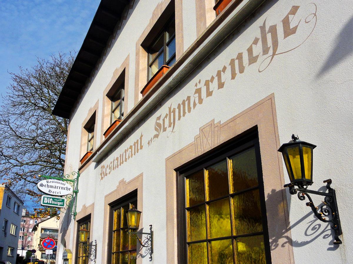 hotel und restaurant schm rrnche in frankfurt bornheim. Black Bedroom Furniture Sets. Home Design Ideas