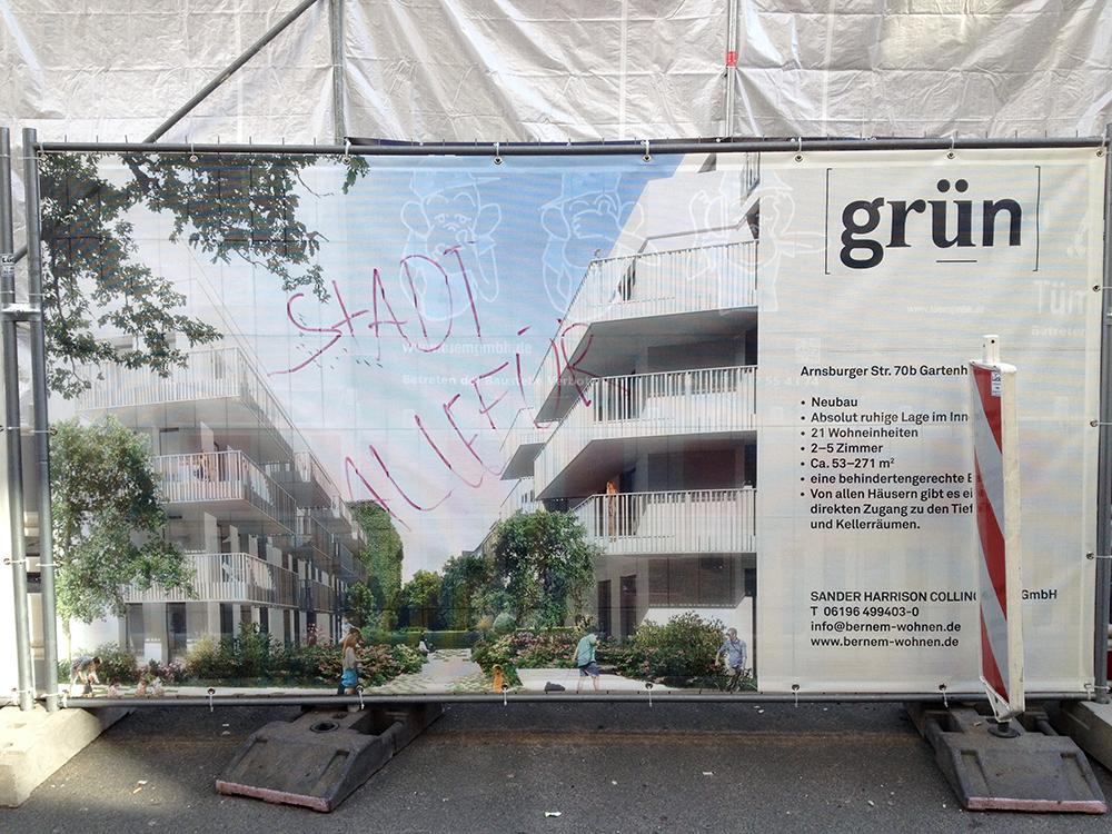 """Baustelle """"Bernem wohnen"""" in der Arnsburger Straße."""