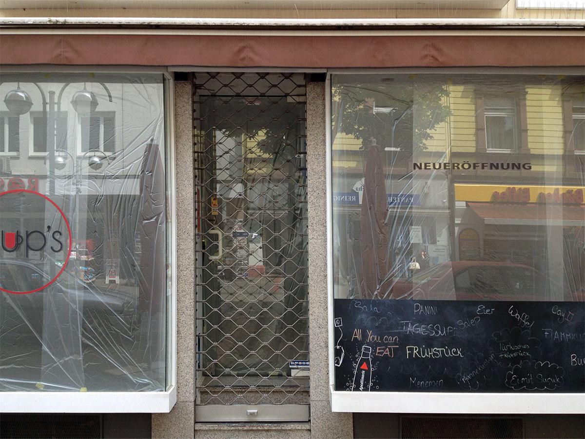 Cups auf der Berger Straße in Frankfurt geschlossen (?)